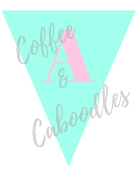 Banner Alphabet Pink and Mint