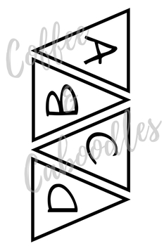 Banner Alphabet White and Black (Small)