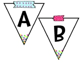 Banner Alphabet and Symbols Pack {Confetti Theme}