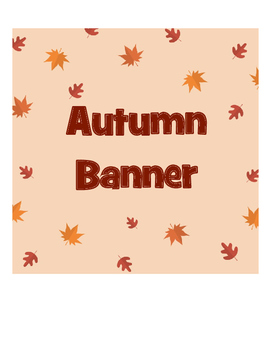 Banner Autumn