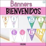 Banner Bienvenidos / Welcome Spanish Banner / Pennant