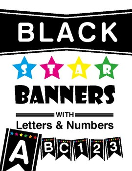 Banner - Black with Star - Letters & Numbers