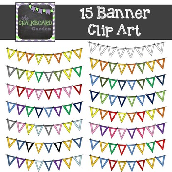 Banner Clip Art - Set of 15