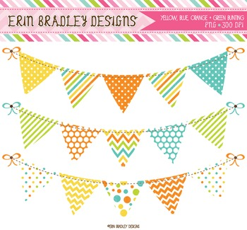 Banner Clipart - Digital Bunting Graphics