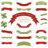 Banner Clipart Red Green Ribbon Clip Art