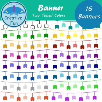 Banner Clipart: Two Toned