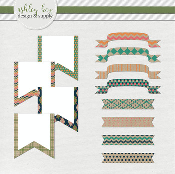 Banner Clipart- Craft Paper Pop Collection