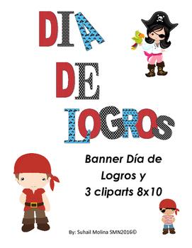 Banner Día de Logros Motivo Piratas