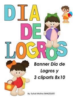 Banner Día de Logros Motivo Playero