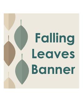 Banner Falling Leaves