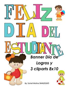 Banner Feliz Día del Estudiante Motivo playero