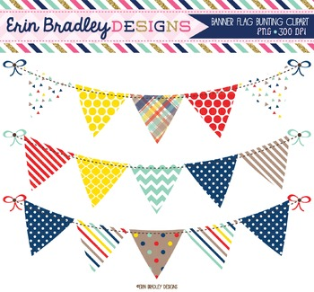 Banner Flag Clipart - Craft Collection