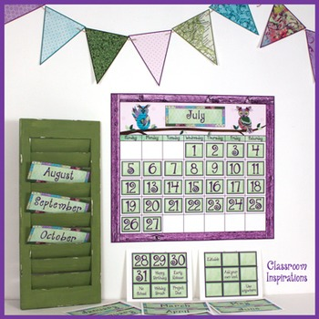 Banner Flags – Coordinates with Book Smart Owls Classroom Theme