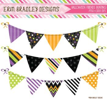 Banner Flags - Halloween Bunting Clipart