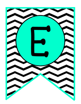 Banner Freebie!!! Welcome- Teal and Chevron