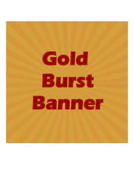Banner Gold and Red Burst