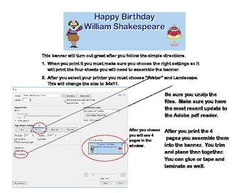 Banner-Happy Birthday William Shakespeare