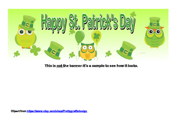 Banner-Happy St. Patrick's Day