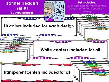Banner Headers {Set 1}