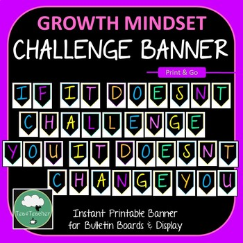 Banner If It Doesnt Challenge You It Doesnt Change You - Ready to Print + Alphab