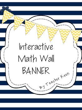 Banner- Interactive Math Wall in Yellow Chevron
