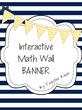 Banner- Interactive Math Wall in Yellow Chevron
