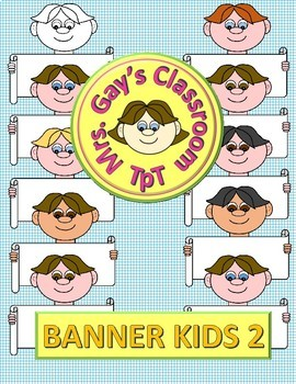 Banner Kids 2 Clipart