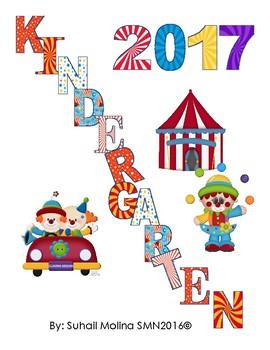 Banner Kindergarten 2017 Motivo Circo