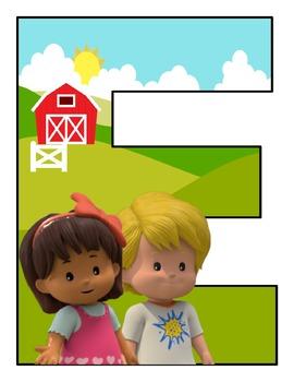 Banner Kindergarten motivo Little People