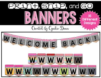 Banner Kit: Welcome Back Pencil Banner
