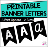 Banner Letters - 6 Different Styles