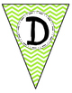 Banner Letters Pennants Lime Green Chevron