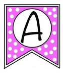 Banner Letters for Bulletin Board, Word Wall, Signs Pink P