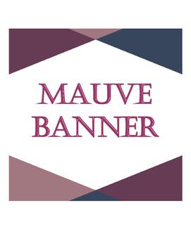Banner Mauve