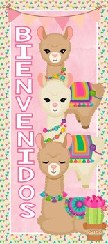 Banner Motivo Llamas/Alpacas