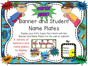 Banner & Name Plates ~ Super Hero Theme