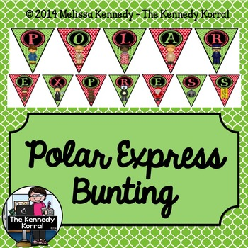 Polar Express Bunting {Party Banner}
