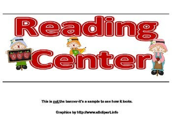 Banner-Reading Center -Scarecrow Theme