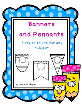 Banners and Pennants for Written Responses
