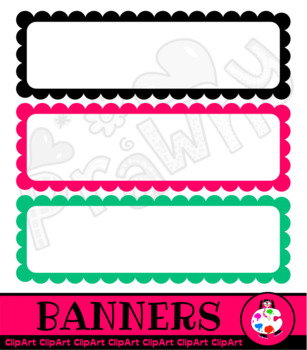 Banner Scallop Border Clip Art