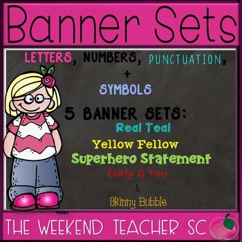 Banner Set- 5 SETS!