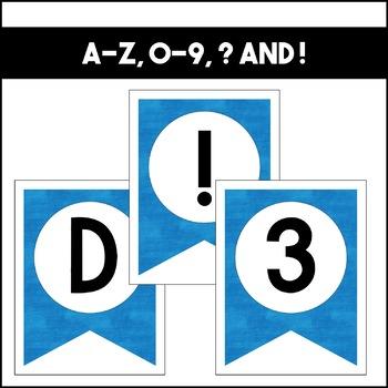 Banner Set: Blue | Classroom Decor