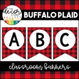 Banner Set: Buffalo Plaid   Classroom Decor