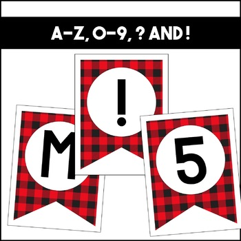 Banner Set: Buffalo Plaid | Classroom Decor