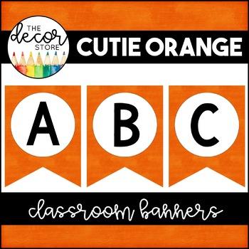 Banner Set: Orange | Classroom Decor