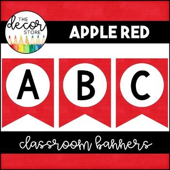 Banner Set: Red | Classroom Decor