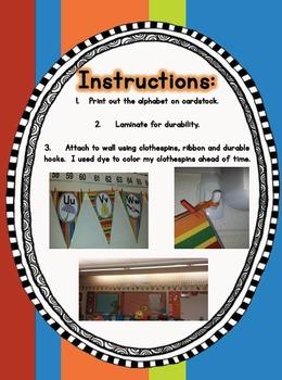 Banner Style Classroom Alphabet
