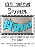 Banner Templates - Editable - Classroom Decoration