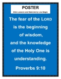 """Banner: """"The fear of the Lord..."""" Proverbs 9:10. (NKJV) Pr"""