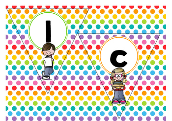 Banner  Welcome  -  Polka  dots  multi